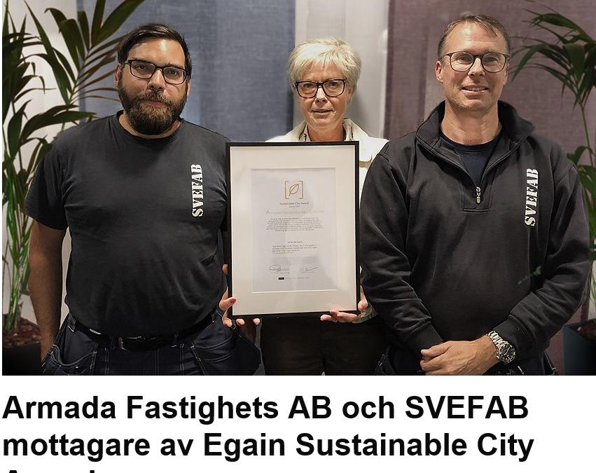 SVEFABs miljöarbete uppmärksammas i media!